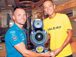 Valentino Rossi and His Art&Voice speaker