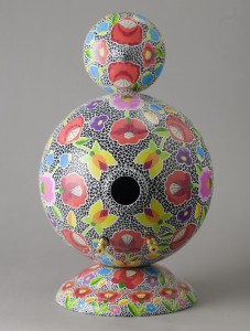 Hand painted folk art speaker
